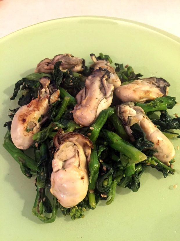 モニター様からのレシピ集「牡蠣と菜の花炒め」