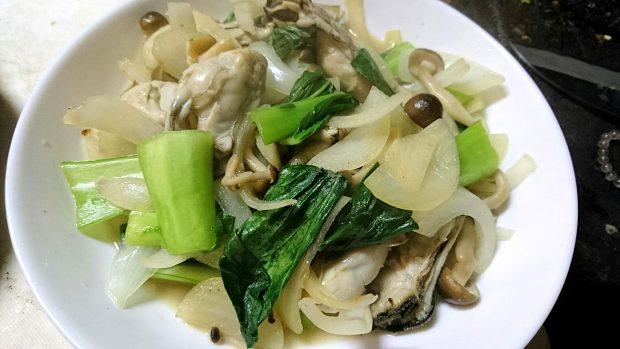 モニター様からのレシピ集「牡蛎と野菜の炒め物」