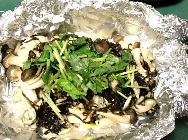 モニター様からのレシピ集「牡蠣のしめじホイール焼き」