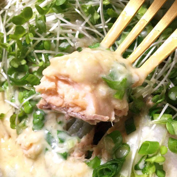 牡蠣みそと鮭のトロトロホイル焼き